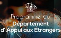 DÉPARTEMENT D`APPUI AUX ÉTRANGERS - LEÇON 18 - 30.01.2021