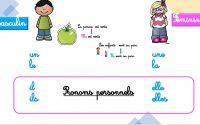 Français CP - Les pronoms personnels - leçon (MODULE 7)