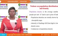 IP SH USA GEOGRAPHY Leçon 2 POPULATION DISTRIBUTION AND DENSITY