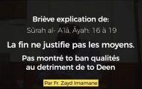 [Leçon #60] La fin ne justifie pas les moyens | par Fr. Zayd Imamane