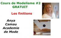 Les finitions de la robe, dernière leçon du cours gratuit de Modélisme niveau 2