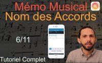 Mémo Musical - Edition du Nom des Accords - 6/11 Tutoriel complet de l'application Apple
