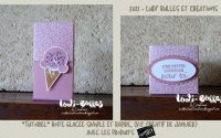 *Tutoriel* Boîte glacée simple et rapide, (Kit Créatif de Janvier) avec les produits Stampin' Up!