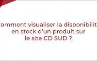 Tutoriel - Comment visualiser la disponibilité en stock d'un produit sur le site CD SUD ?