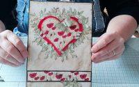 Tutoriel carte cœur et coquelicots