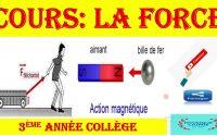 la force et ses caractéristiques - leçon N3 du 2ème semestre - 3ème année collège