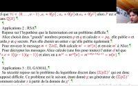 Agrégation interne math : préparation leçon 104 Nombres premiers. Propriétés et applications 2/2