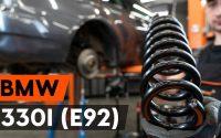 Comment remplacer ressort de suspension arrière sur BMW 330i 3 (E92) [TUTORIEL AUTODOC]