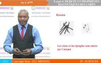 IP SC PCT  4e Les aimants, le champ magnétique Leçon 4 Dureté et propriétés magnétique des corps