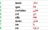 Leçon 52 : Les 30 Mots Les Plus Utilisés en Français - Learn French in Pashto - 30 Most Used Words