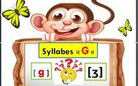 Syllabes  avec g leçon 5 : Apprendre à lire (maternelle,CP,CE1) Learn french letters تعليم القراءة
