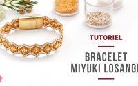 TUTORIEL   Bracelet miyuki losange - Augmentations et diminutions sur métier à tisser