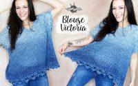 """TUTORIEL CROCHET blouse """"Victoria"""" col en V et oversize facile"""
