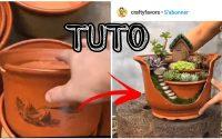 Transformer un vase cassé en décoration (TUTORIEL)