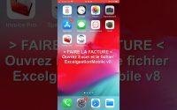 Tutoriel. ExcelgestionMobile v8: sur iPhone/iPad, créer des factures et réaliser des PDF ou imprimer