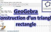 Tutoriel GeoGebra : Tracer un triangle rectangle