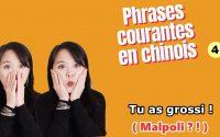 #apprendrelechinois#coursdechinois  Phrases courantes en chinois - Leçon 4 -Tu as grossi !(Malpoli?)