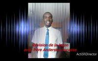 la révision de la leçon du trimestre avec frère Anderson Ducasse!!!
