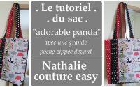 """le tutoriel du sac """"adorable panda"""" /  nathalie couture easy / tutoriel couture"""