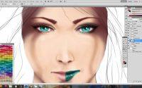 tutoriel photoshop (peindre le visage)