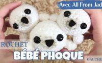CROCHET BÉBÉ PHOQUE - tutoriel rapide bébé phoque amigurumi au crochet (étape par étape) Gauchers