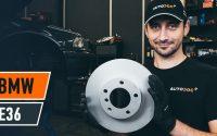Comment remplacer des disques de frein arrière sur BMW E36 [TUTORIEL AUTODOC]