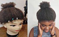 Diy, tutoriel de perruque au crochet de cheveux naturels utiliser gold hair/ chance Tressemoi