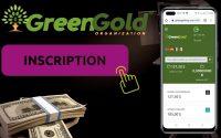 GREEN GOLD : Tutoriel d'inscription