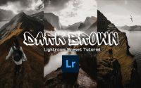 How To Édit Dark BROWN Photography-Lightroom Preset Tutoriel  تعلم معنا كيفية تصميم فيلتر  بني غامق