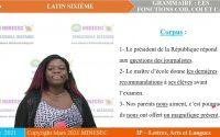 IP-LAL LATIN SIXIEME Leçon 6 Grammaire : Les fonctions COD, COI et CAt