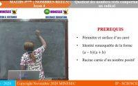 IP-SC Mathématiques 3ème Leçon 12 Quotient des nombres réels comportant un radical