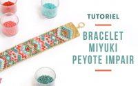 TUTORIEL | Bracelet Miyuki turquoise et rose 21 rangs en Peyote Impair