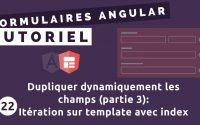 Tutoriel Formulaires Angular #22 - FormArray: itération sur template avec indice