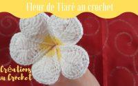 Tutoriel fleur de Tiaré au crochet