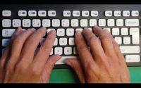 1e leçon de dactylographie (ou frappe à l'aveugle) sur un clavier AZERTY