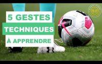 5 GESTES TECHNIQUES DE FOOTBALL SIMPLE À APPRENDRE    Tutoriel