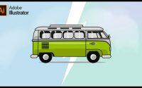Adobe Illustrator CC Tutoriel - Dessiner un van VW