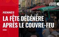 Des milliers de fêtards dans le centre de Rennes : « Aucune leçon tirée du premier déconfinement »