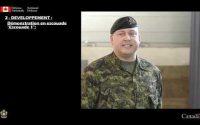 Forces Canadiennes - Démonstration d'une leçon d'exercise élémentaire à la halte
