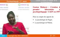 IP-EN PSYCHOPEDAGOGIE NIVEAU 1 Leçon 2 GENESE ET INTERET DE LA PSYCHOPEDAGOGIE