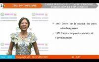 IP-STT 2NDE TOURISME ET DEVELOPPEMENT DURABLE Leçon 2 CADRE JURIDIQUE ET INSTITUTIONNEL ETCONVENTION