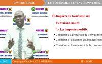 IP-STT TECHNIQUE DE TOURISME 2nde TOURISME Leçon 2 Le tourisme et l'environnement