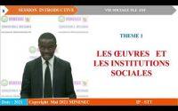 IP-STT VIE SOCIALE TLE ESF  Leçon 1  LA CREATION DES OEUVRES SOCIALES