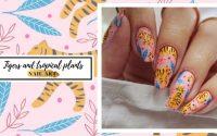 Nail art n°164 | Des tigres et des plantes tropicales - tutoriel [ENG SUBS]