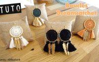 Réaliser des boucles d'oreilles Dreamcatcher Native amérindien avec tutoriel bijoux facile débutant