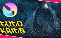 """TUTORIEL KRITA - COMMENT DESSINER LA PLUIE DANS KRITA AVEC """"G'MIC"""""""