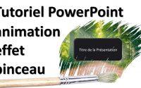 Tutoriel PowerPoint animation effet pinceau