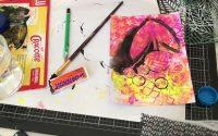 Tutoriel Scrapbooking Mixed média art journal loisirs créatifs gelpress peintureacrylique