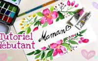 Tutoriel fleurs à l' aquarelle débutant. Watercolor beginners.