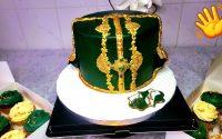 Tutoriel gâteau henné party #  Cake  design 💯 كيكة يوم الحناء